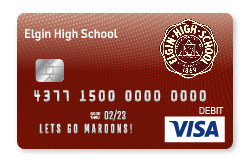 Maroons Visa Debit Card