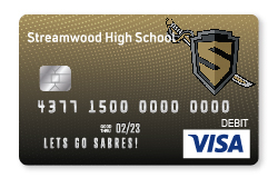 Sabres Visa Debit Card