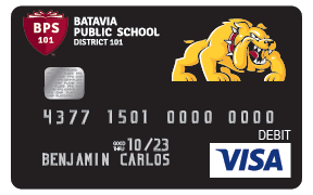 Bulldogs Visa Debit Card